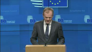 EU's Tusk: short Brexit delay possible if MPs back deal