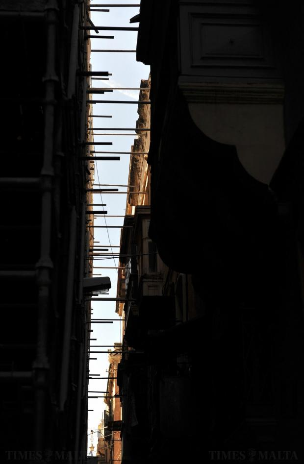 The sky from Strait Street in Valletta on March 1. Photo: Chris Sant Fournier