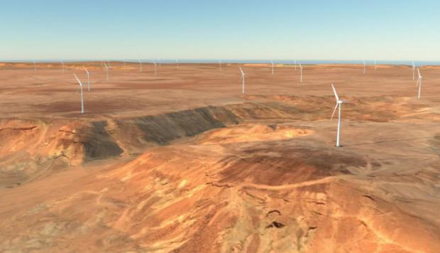Impression of the new wind farm.