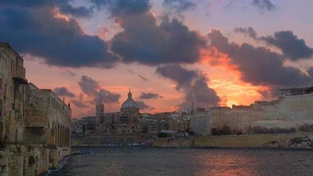 Sunrise over Valletta. Photo: Raymond Heap
