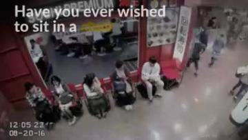 Watch: Automated chair allows you to queue up while seated
