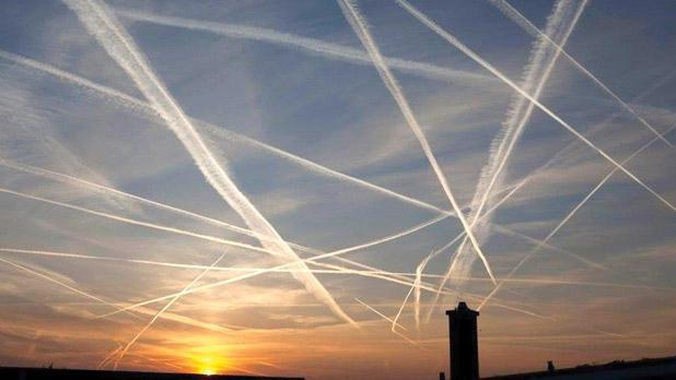 The mysterious trails spotted over Malta recently.