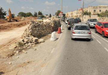 Damaged water main in tal-Balal Road being replaced