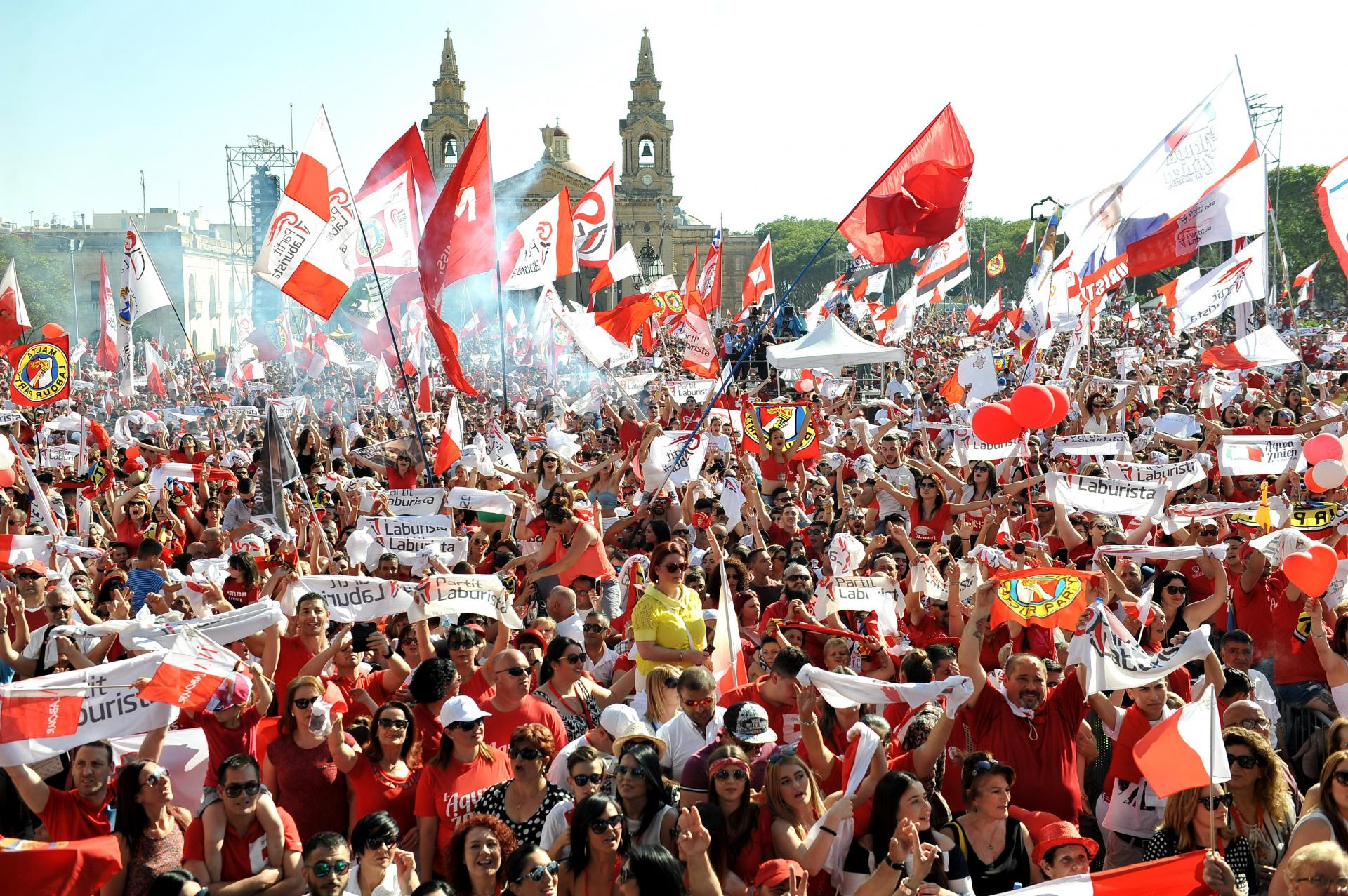Labour voters at a 2017 rally. Photo: Chris Sant Fournier