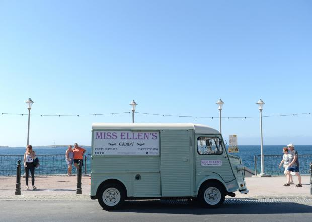 A sweet van arrives at the Bugibba promenade on June 17. Photo: Matthew Mirabelli