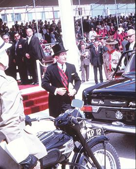 Prime Minister Borg Olivier on September 21, 1964, at the Independence Arena, Floriana.