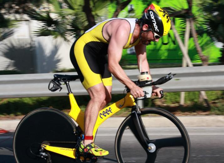 Dermot Galea was the first Maltese athlete to compete in the ironman worlds in Hawaii.