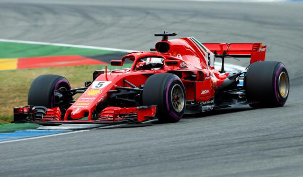 Ferrari's Sebastian Vettel in action during qualifying.