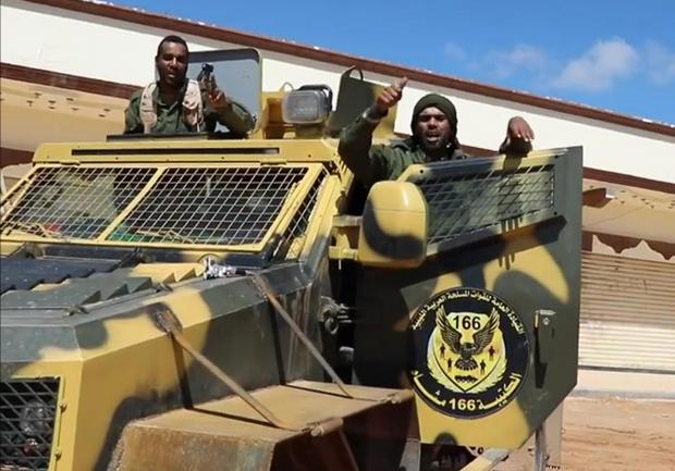 Grab from a video published on the Libyan strongman Khalifa Haftar's self-proclaimed Libyan National Army War Information Division's Facebook page. File photo.