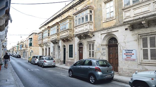 The two houses on Triq il-Lunzjata, Santa Venera. Photo: Matthew Mirabelli