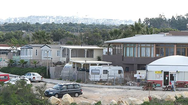 The PA is saying that static caravans are being used as fixed residences at the Malta Campsite in breach of the permit.