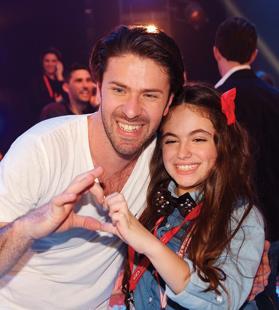 Richard Micallef with Junior Eurovision winner Gaia Cauchi.