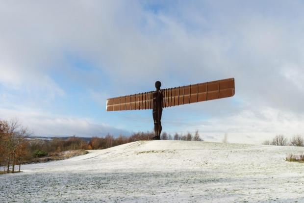 The Angel of the North in Newcastle: could interesting views keep drivers awake? Photo: Shutterstock
