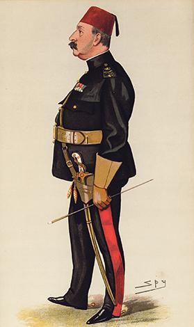 Sir Francis Grenfell, by Spy, Vanity Fair, 1889.