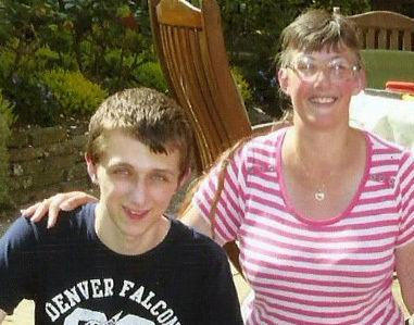 Undated family handout file photo of Lynne Sandford and her son Michael.