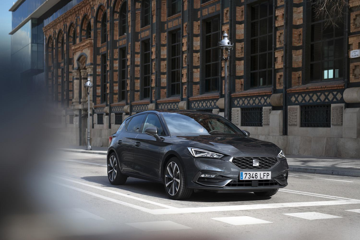 Seat's new Leon features sharp styling.