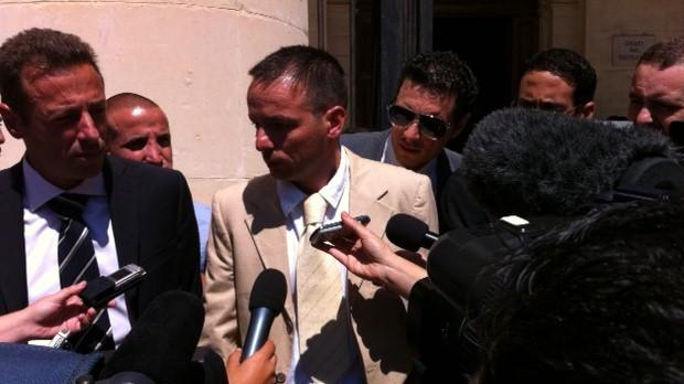 Lawrence Grech speaking after the verdict this morning. Photo: Darrin Zammit Lupi