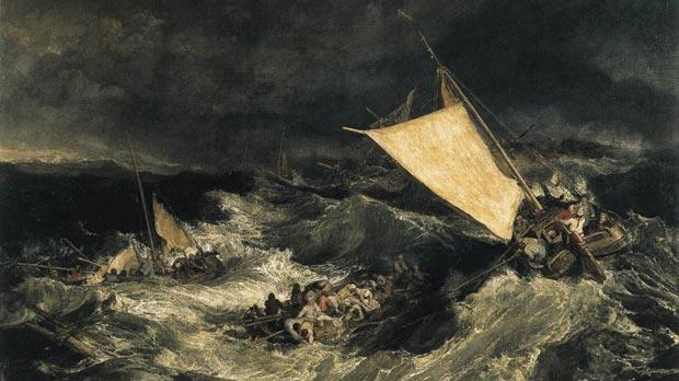 The Shipwreck, a painting by JMW Turner that forms part of the Tate collection in London. One of the book's most exciting provocations concerns St Paul's shipwreck as described in the Acts of the Apostles.