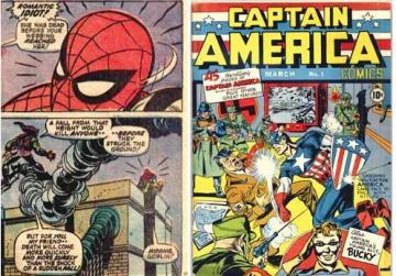 Amazing Spiderman No.121. Right: Captain America Comics No.1.