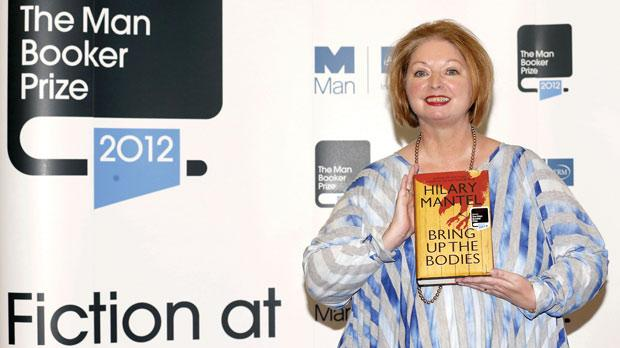 Hilary Mantel after winning the Man Booker literary prize for her novel Bring Up the Bodies.