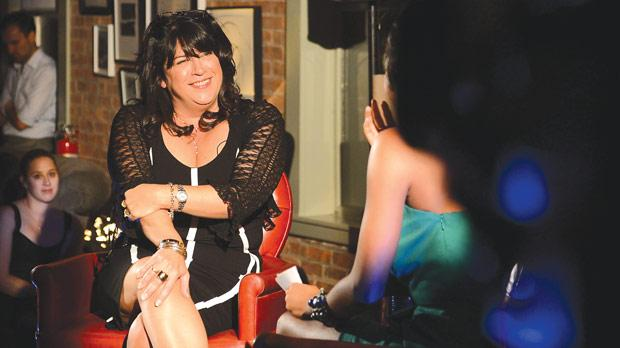 Author E. L. James attending the Fifty Shades of Grey – The Classical Album launch at Soho House in New York City in September.
