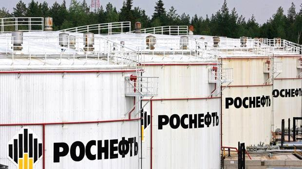 Rosneft oil storage tanks at the oil-loading terminal in Privodino, southeast of Arkhangelsk in 2007. The tentative deal, struck in Moscow on Tuesday night, would dissolve a lucrative but troubled partnership with BP.