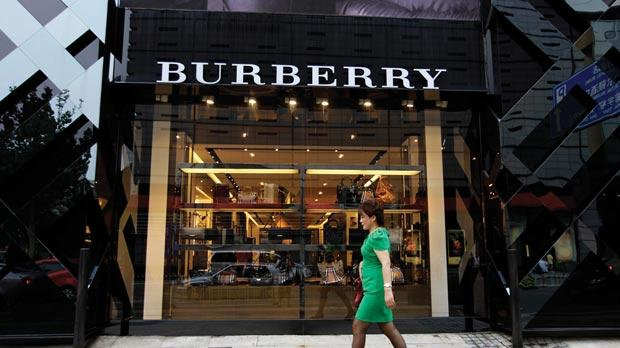 Burberry in Beijing: the brand rattled investors with a profit warning in September.