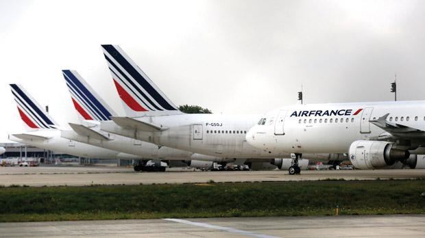 Air France planes parked on the tarmac at Charles de Gaulle International Airport in Roissy, near Paris. Photo: Jacky Naegelen/Reuters
