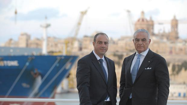 Consultant Patrick Parnis (left) and Antonio Palumbo say the ISO 9001 certification is the first in a series to elevate the shipyard's offering. Photo: Matthew Mirabelli