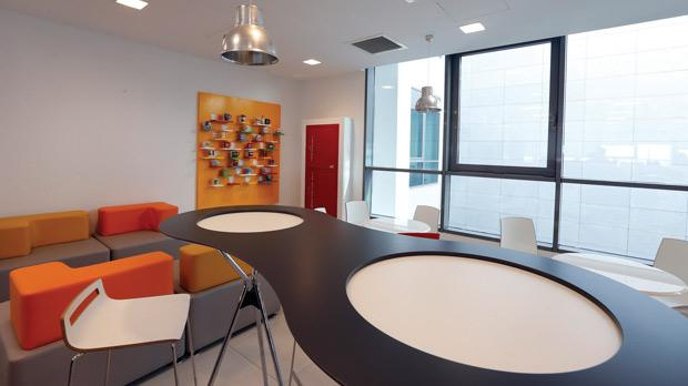 Vodafone's new offices at Skyparks are bathed in natural light and feature noise absorption furniture and fittings throughout. Photo: Darrin Zammit Lupi