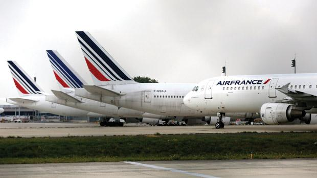 Air France planes parked at the Charles de Gaulle International Airport. Photo: Jacky Naegelen/Reuters
