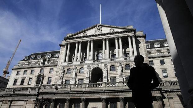 The Bank of England in London. Photo: Suzanne Plunkett/Reuters