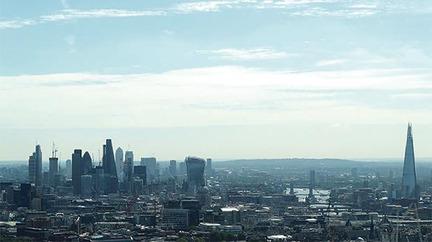 A view of the City of London, Canary Wharf and the Shard. Photo: Reuters