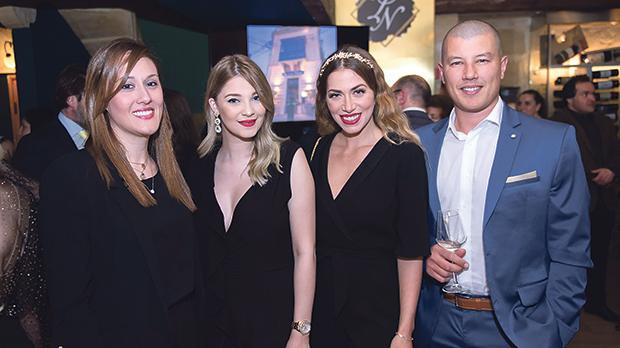 From left: Martina Zammit, Valentina Rossi, Tamara Webb and Kenneth Webb.