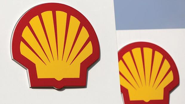 Shell logos on a garage forecourt in central London. Photo: Neil Hall/Reuters