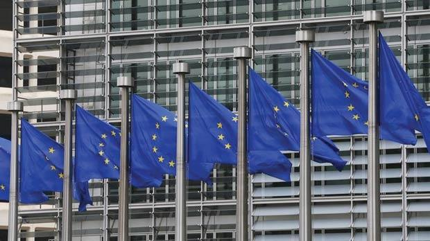 European flags outside the European Commission headquarters in Brussels. Photo: Yves Herman/Reuters