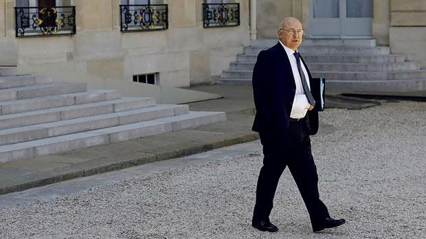 French Finance Minister Michel Sapin leaving the Elysée Palace following a weekly Cabinet meeting in Paris. Photo: Stephane Mahe/Reuters