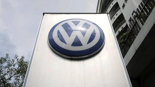 The Volkswagen logo seen at a dealership in Mumbai, India. Photo: Shailesh Andrade/Reuters