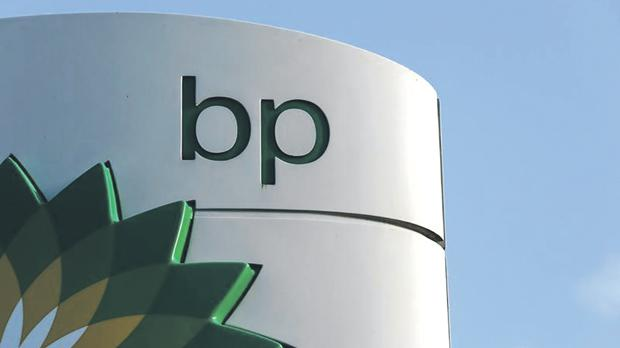 A BP logo at a petrol station in London. Photo: Luke MacGregor/Reuters