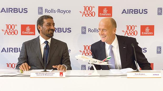 Image result for Emirates welcomes 100th A380 to its fleet