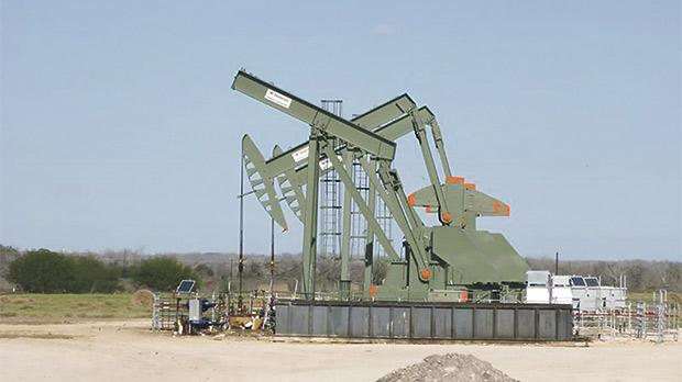 A pump jack standing  idle in Dewitt County, Texas. Photo: Anna Driver/Reuters