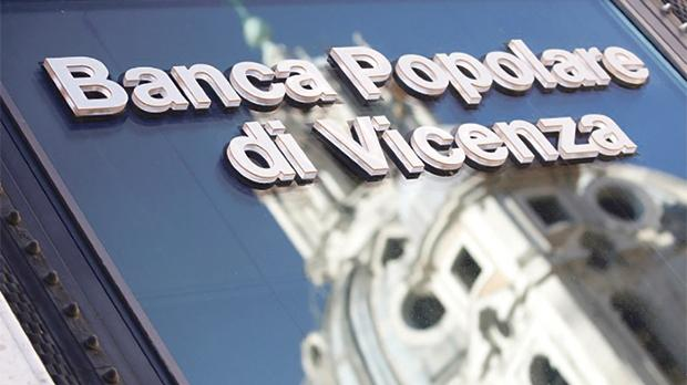 A sign of the Banca Popolare di Vicenza in Rome, Italy. Photo: Reuters