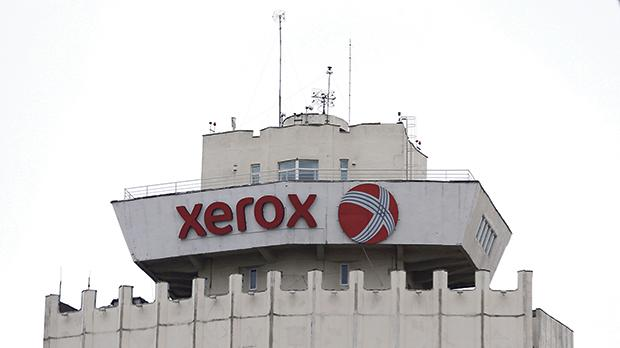 A Xerox logo on a building in Minsk, Belarus. Photo: Reuters