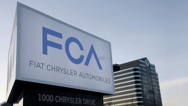A Fiat Chrysler Automobiles sign at the Chrysler Group World Headquarters in Auburn Hills, Michigan. Photo: Rebecca Cook/Reuters