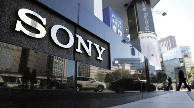 A logo of Sony Corp. outside its showroom in Tokyo. Photo: Yuya Shino/Reuters
