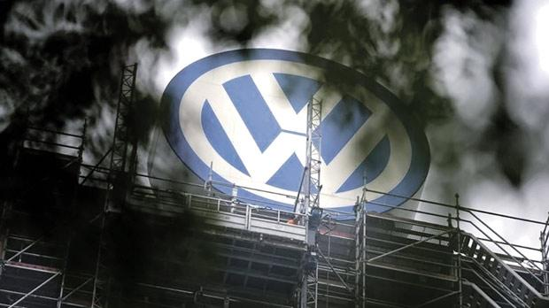 A Volkswagen logo stands on the roof of the company's headquarters in Wolfsburg, Germany. Photo: Axel Schmidt/Reuters
