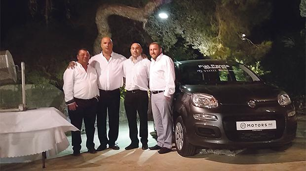 From left: Vince Borg from V&C Contractors, MDA chairman Sandro Chetcuti, Jethro Sant (winner) and Matthew Fenech from Tum Invest.