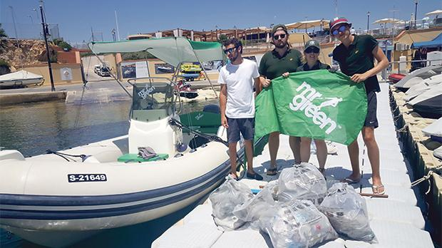Mr Green employees together with University students are cleaning the shores and waters around Malta.