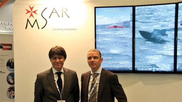 Ambassador Pierre Clive Agius with Jack Wijnants at the Euronaval fair in Paris.