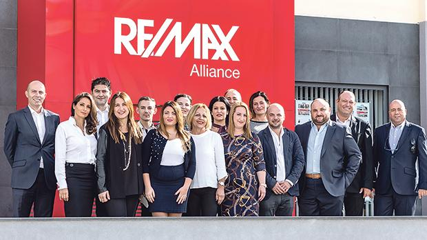 Remax Malta's Swieqi office employees.